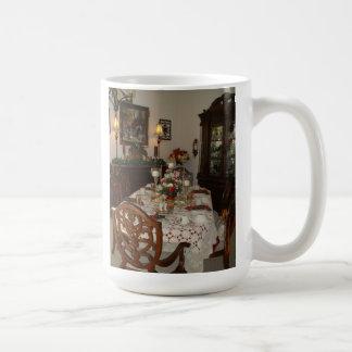 Elegant Christmas dinner table Mug