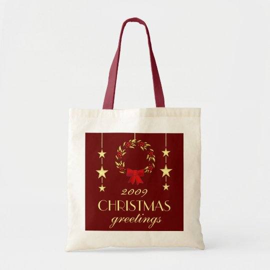 Elegant Christmas Gift Bag - Red and Gold