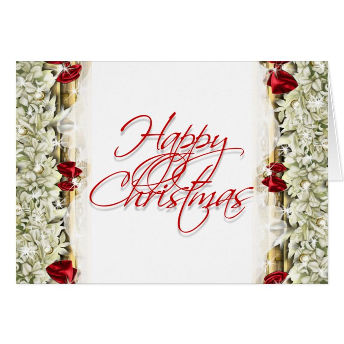 Elegant christmas greeting message blank greeting cards