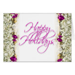 Elegant christmas greeting message blank card