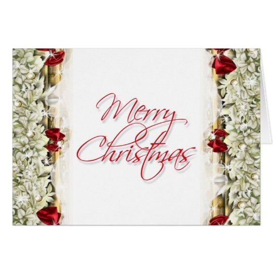 Elegant christmas greeting message blank card