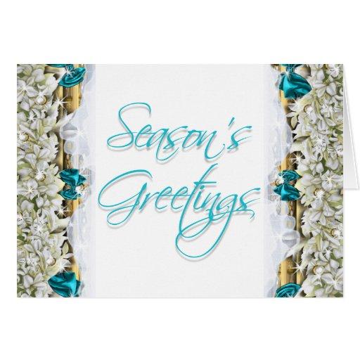 Elegant christmas greeting message blank greeting card for Elegant christmas card messages