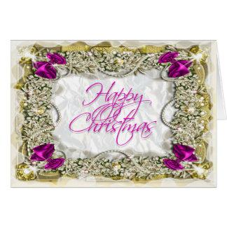 Elegant christmas greeting message greeting card