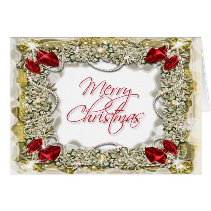 Elegant christmas greeting message card zazzle for Elegant christmas card messages