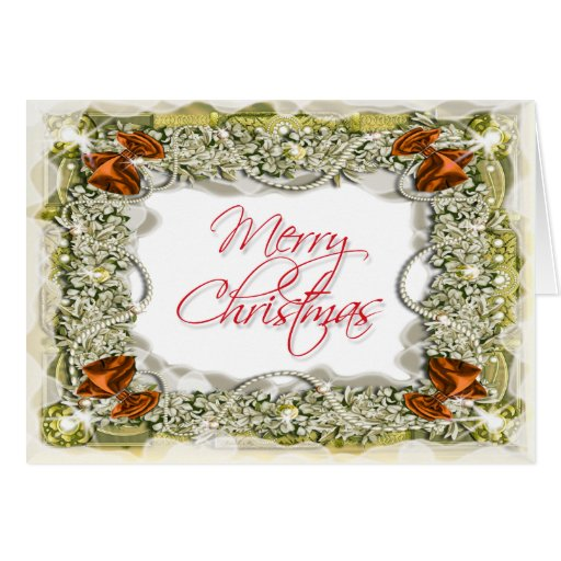 Elegant christmas greeting message greeting card zazzle for Elegant christmas card messages