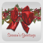 Elegant Christmas greeting PERSONALIZE Stickers