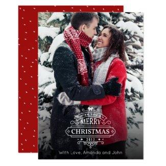 Elegant Christmas Greetings Photo Card