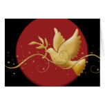 Elegant Christmas holiday dove peace Card