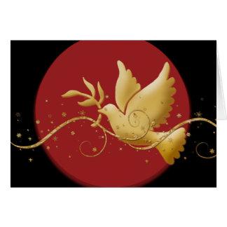 Elegant Christmas holiday dove peace Greeting Card