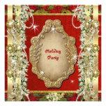 "Elegant Christmas ""holiday party"" gold custom Custom Invitations"