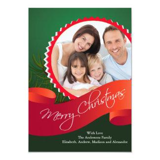 Elegant Christmas Holiday Photo Card