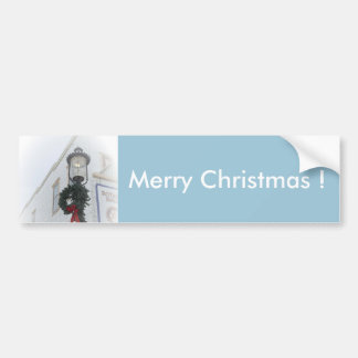Elegant Christmas Lantern Bumper Sticker