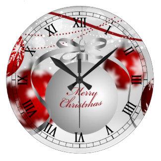 Elegant Christmas Ornament Wall Clock