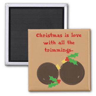 Elegant Christmas Ornaments Magnet