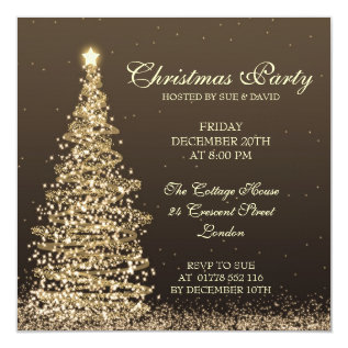 Elegant Christmas Party Card at Zazzle
