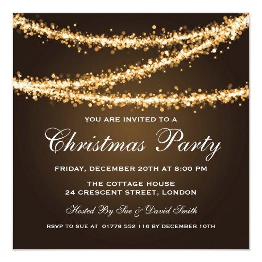 elegant holiday party company invitation zazzle com