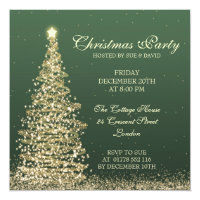 Elegant Christmas Party Green Card