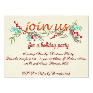 Elegant Christmas Party Invitation