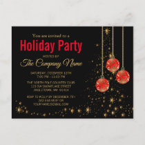Elegant Christmas Party Invitation Postcard