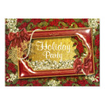 Elegant Christmas party office customizable 5x7 Paper Invitation Card