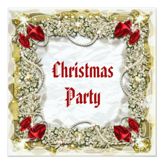 Elegant Christmas party office wreath Card