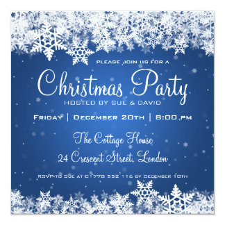 Elegant Christmas Party Invitations & Announcements | Zazzle