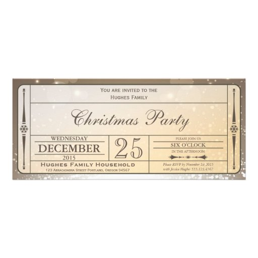 How To Make Ticket Invitations with luxury invitation template