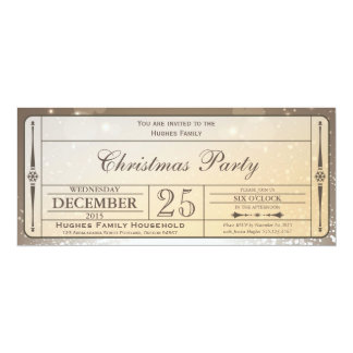 Elegant Christmas Party Ticket Invitation