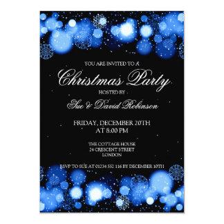 Elegant Christmas Party Winter Wonder Blue 5x7 Paper Invitation Card