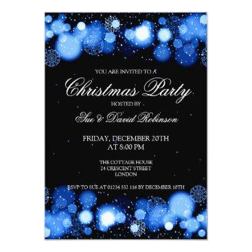 Christmas Themed Elegant Christmas Party Winter Wonder Blue Card