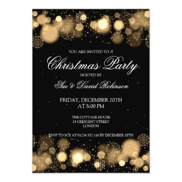Christmas Themed Elegant Christmas Party Winter Wonder Gold Card