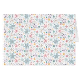 Elegant Christmas Pastel Snowflakes Greeting Card