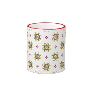 Elegant Christmas Pattern Ringer Coffee Mug