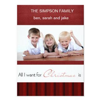 elegant christmas photo card