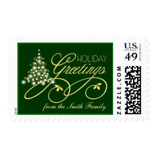 Elegant Christmas Postage - Personalize with Name