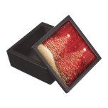 Elegant Christmas Sparkling Trees Red Premium Keepsake Boxes