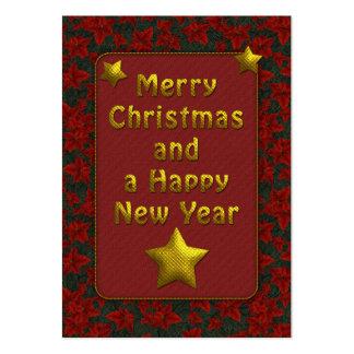 Elegant Christmas Tag Business Cards