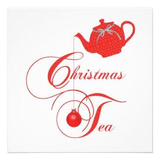 Elegant Christmas Tea Invite