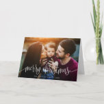 "Elegant Christmas Text Photo Greeting Card | White<br><div class=""desc"">Send stylish and personalized Christmas greetings with this elegant folded photo card! Easy to customize with your own photo and text.</div>"