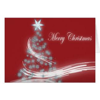 Elegant Christmas Tree and Christmas  Star Greeting Card