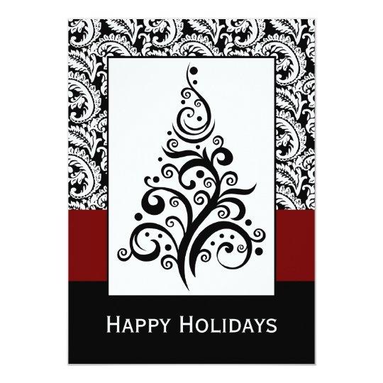 elegant christmas tree  Corporate holiday Cards