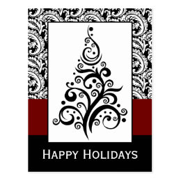 elegant christmas tree Corporate holiday Cards