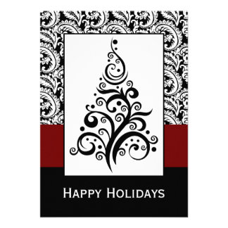 elegant christmas tree  Corporate holiday Cards Personalized Invitation