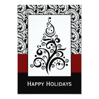 "elegant christmas tree  Corporate holiday Cards 5"" X 7"" Invitation Card"