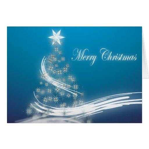 Elegant Christmas Tree Corporate Holiday Greeting Greeting Cards