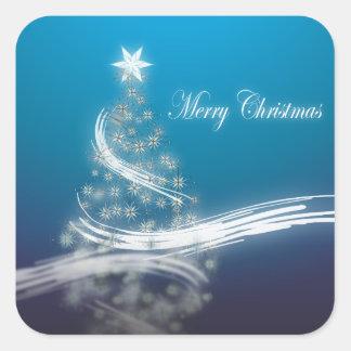 Elegant Christmas Tree Corporate Holiday Greeting Square Sticker