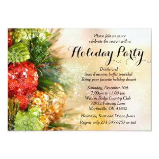 Elegant Christmas Tree Holiday Party Card