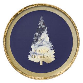 Elegant Christmas Tree Holiday Plate