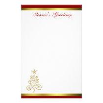 Elegant Christmas Tree Holiday Stationery