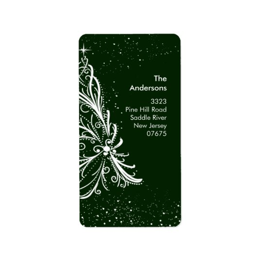Elegant Christmas Tree Return Address Label